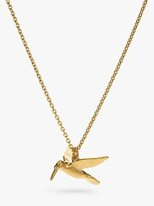 Read more about Alex monroe hummingbird pendant necklace gold
