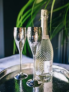 Read more about Culinary concepts hammered champagne flutes set of 2
