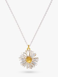 Read more about Alex monroe for john lewis daisy pendant necklace silver gold