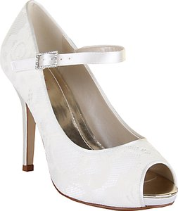 Read more about Rainbow club nina lace platform peep-toe shoes ivory
