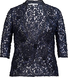 Read more about Chesca cornelli lace jacket navy