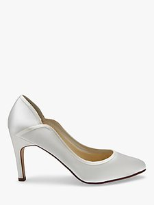 Read more about Rainbow club lucy satin court shoes ivory