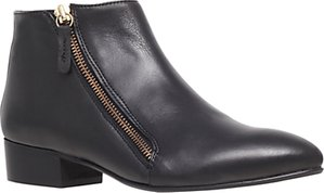 Read more about Kg by kurt geiger sally leather asymmetric zip ankle boots black