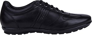 Read more about Geox symbol city leather trainers black