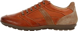 Read more about Geox symbol leather trainers whisky