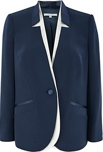 Read more about Chesca notch neck satin back jacket navy