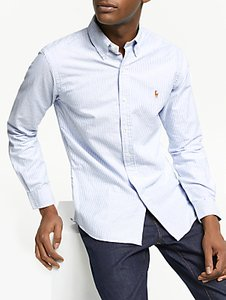 Read more about Polo ralph lauren slim fit striped oxford shirt blue white