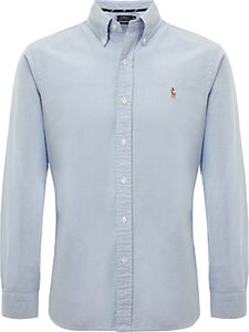 Read more about Polo ralph lauren cotton oxford slim fit shirt sky