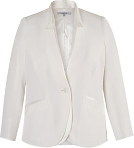 Read more about Chesca notch neck satin back jacket ivory