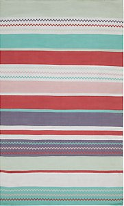 Read more about Little home at john lewis striped children s rug pink