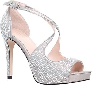 Read more about Carvela gift high heeled embellished court shoes silver