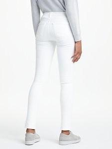 Read more about J brand 811 mid rise skinny leg jeans blanc