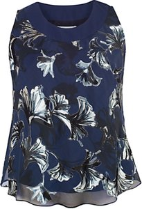 Read more about Chesca fan print cami top navy