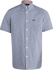Read more about Fred perry short sleeve poplin shirt medieval blue