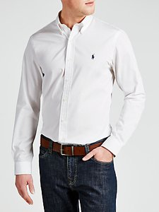 Read more about Polo ralph lauren slim cotton poplin shirt white