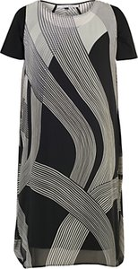 Read more about Chesca abstract ombre dress ivory black
