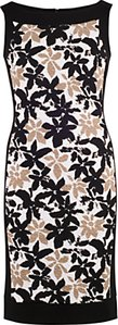 Read more about Chesca band trim fancy print dress ivory black
