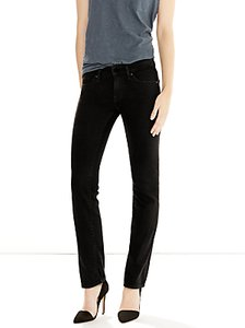 Read more about Levi s 714 mid rise straight jeans black sheep