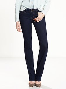 Read more about Levi s 714 mid rise straight jeans lone wolf