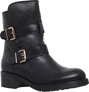 Read more about Kurt geiger richmond leather low heel ankle boots black