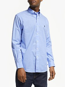 Read more about Polo ralph lauren cotton poplin shirt blue white