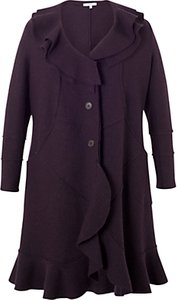 Read more about Chesca wool flounce trim coat aubergine