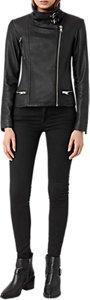 Read more about Allsaints bales leather biker jacket black