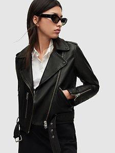 Read more about Allsaints leather balfern biker jacket black