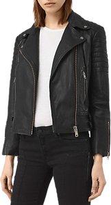 Read more about Allsaints papin leather biker jacket black