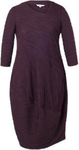 Read more about Chesca wavy stripe jersey dress aubergine black