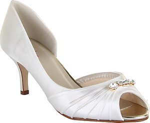 Read more about Rainbow club arabella stiletto heeled court shoes ivory satin