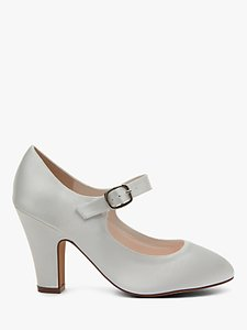 Read more about Rainbow club madeline block heeled mj shoes ivory satin