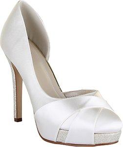 Read more about Rainbow club kelis asymmetric platform court shoes ivory satin