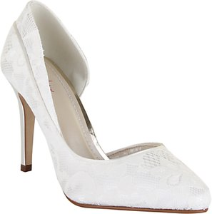 Read more about Rainbow club jessica asymmetric court shoes ivory satin