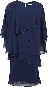 Read more about Gina bacconi chiffon shawl and beaded edge dress navy