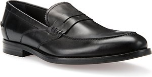 Read more about Geox hampstead leather loafers black