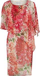 Read more about Gina bacconi watercolour chiffon dress with cape multi
