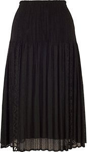 Read more about Chesca lace crush skirt black