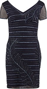 Read more about Gina bacconi beaded mesh cocktail dress navy