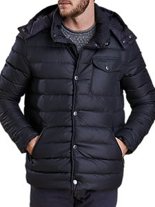 Read more about Barbour cowl quilt jacket navy