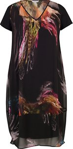 Read more about Chesca feather print dress black