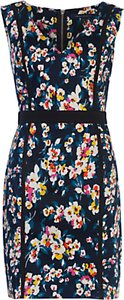 Read more about French connection daisy v-neck dress utility blue multi