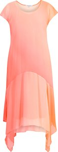 Read more about Chesca ombre chiffon dress orange coral