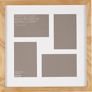 Read more about John lewis multi-aperture oak square photo frame 4 photo 4 x 6 10 x 15cm