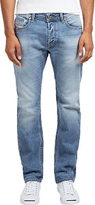 Read more about Diesel j waykee regular straight jeans light wash 0842h