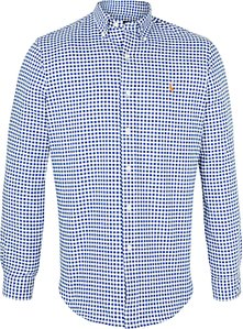 Read more about Polo ralph lauren gingham oxford sport long sleeve shirt blue white