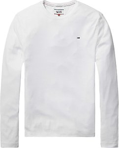 Read more about Tommy jeans original 1x1 rib crew neck long sleeve t-shirt classic white