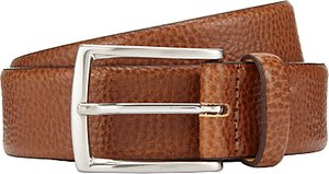 Read more about John lewis made in italy pebble leather belt tan