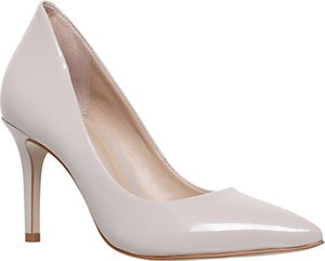 Read more about Kg by kurt geiger bella pointed toe stiletto court shoes nude leather