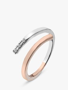 Read more about Hot diamonds two tone ring silver rose gold